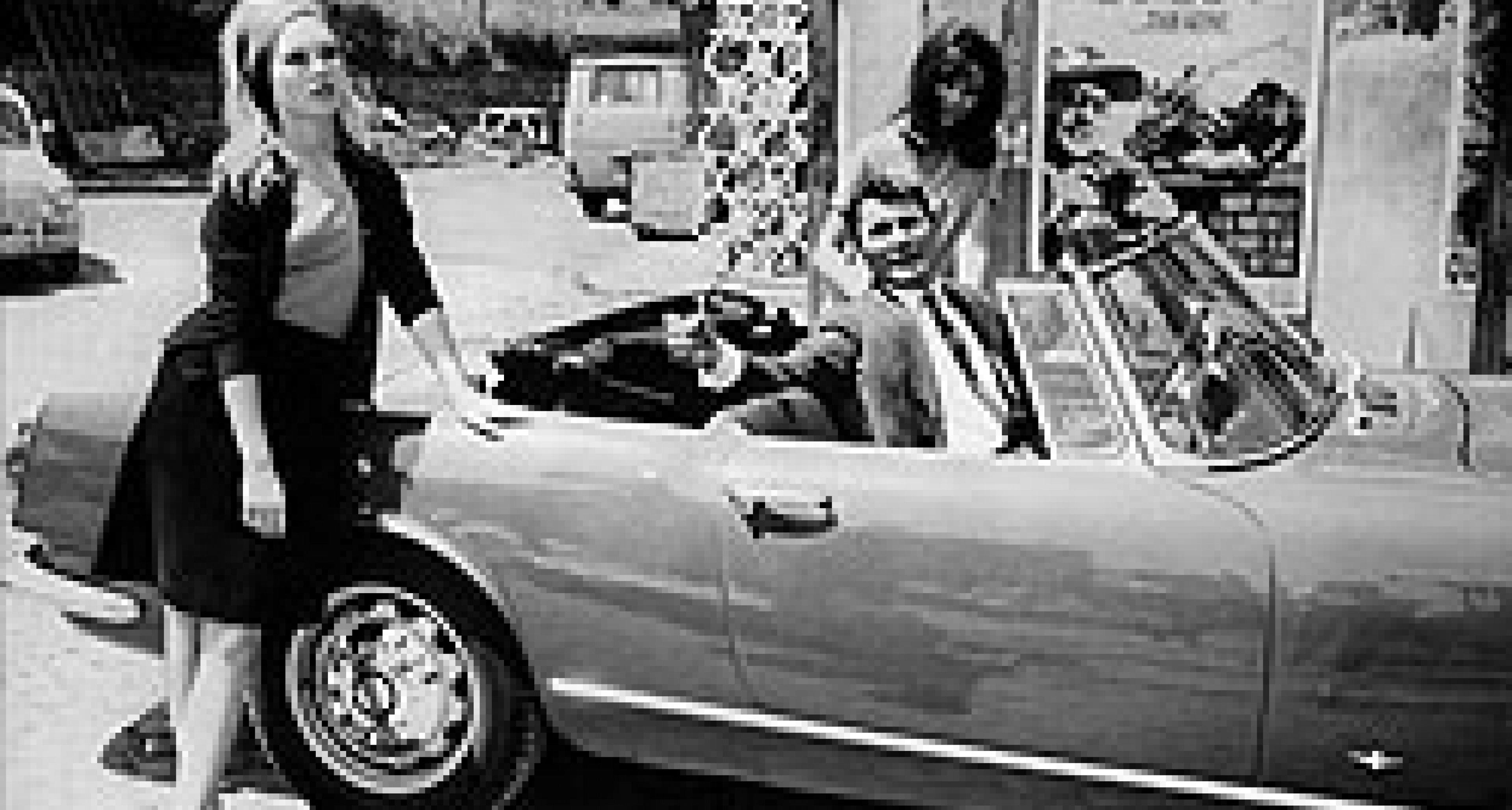 Brigitte Bardot and her Romeo in an Alfa