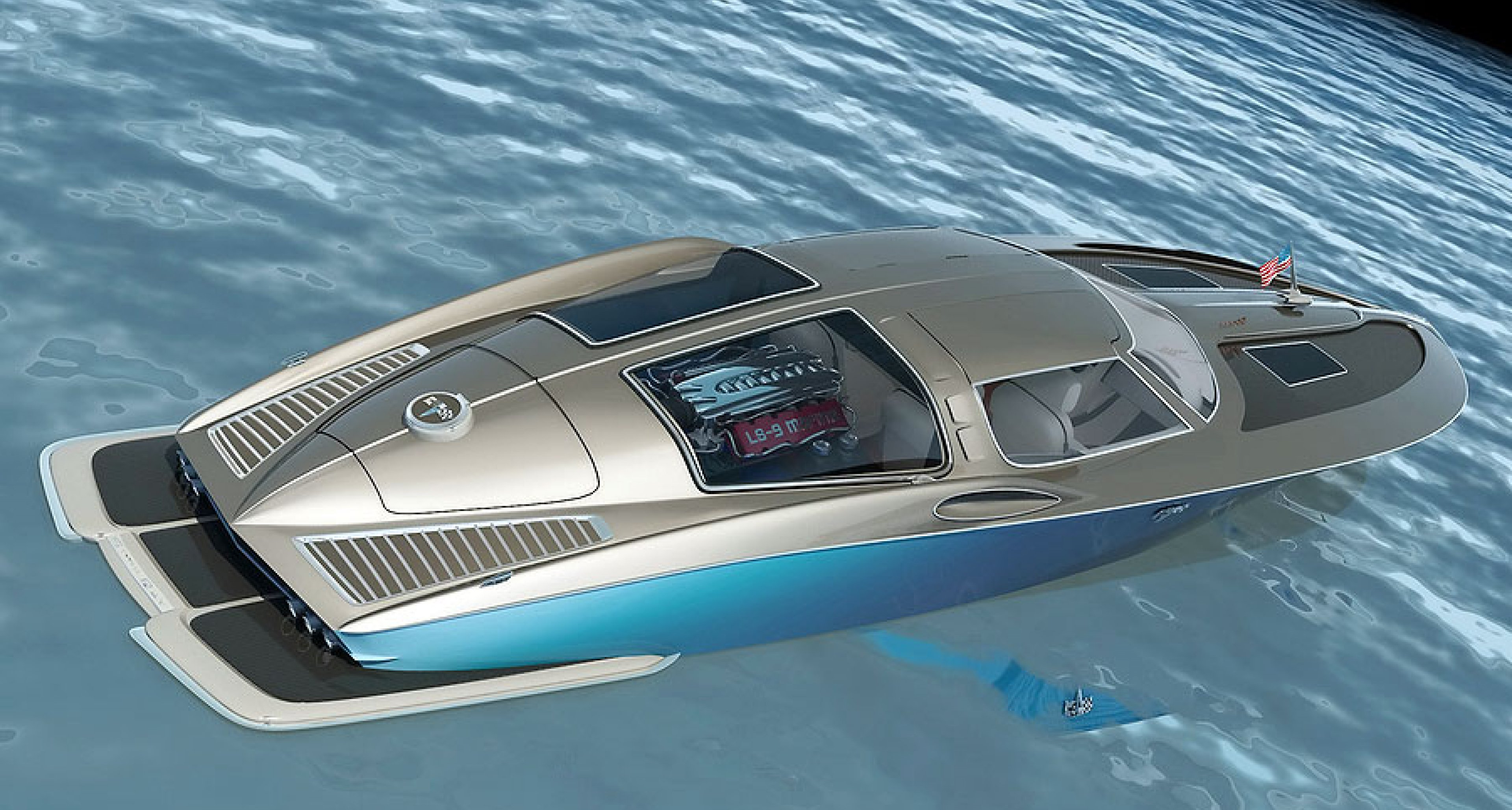 Corvette Boat Concept Muscle On The Mediterranean