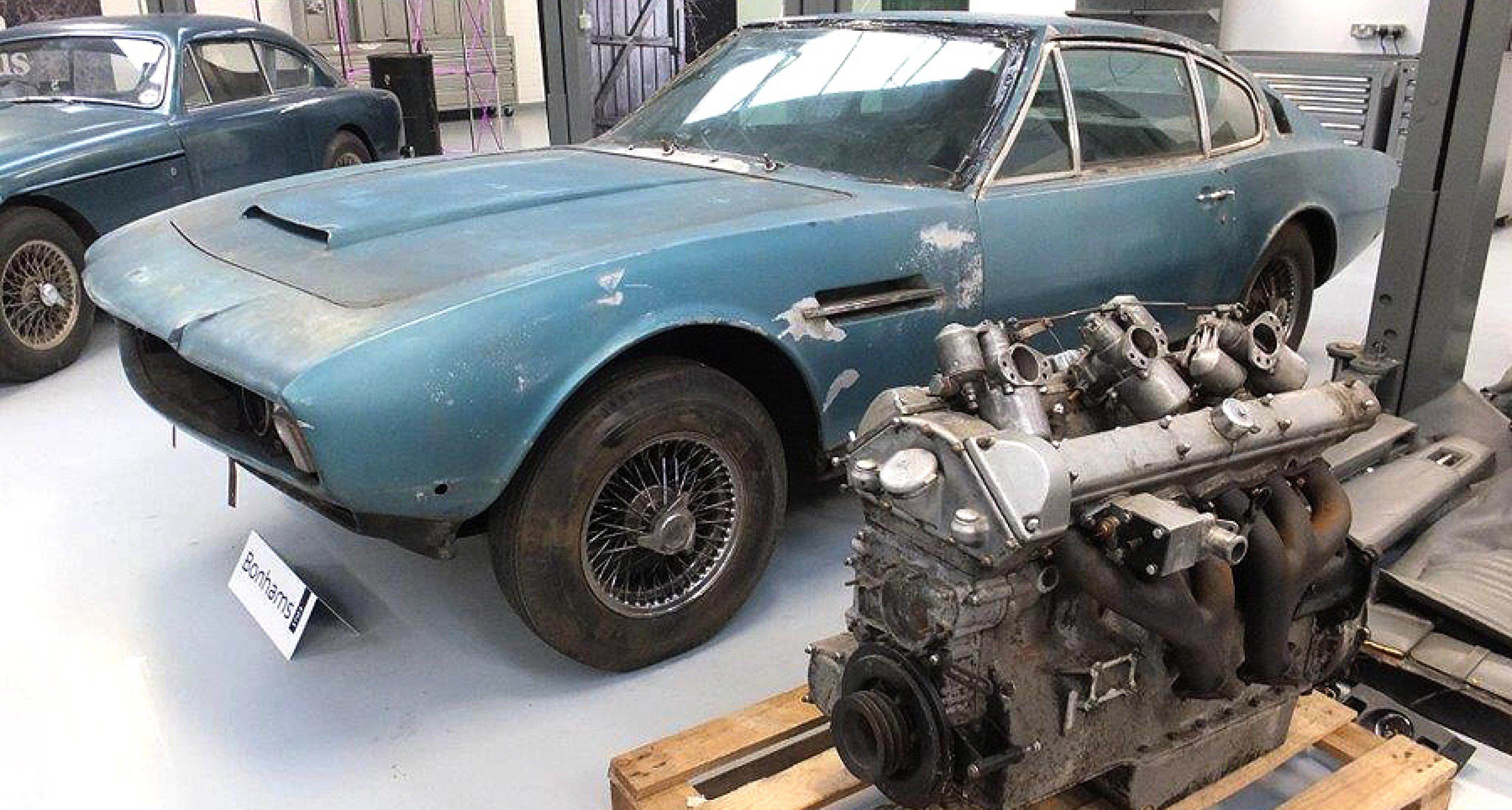 Barnfinds Return Home Bonhams Aston Martin Sale At Newport - Aston martin restoration project for sale