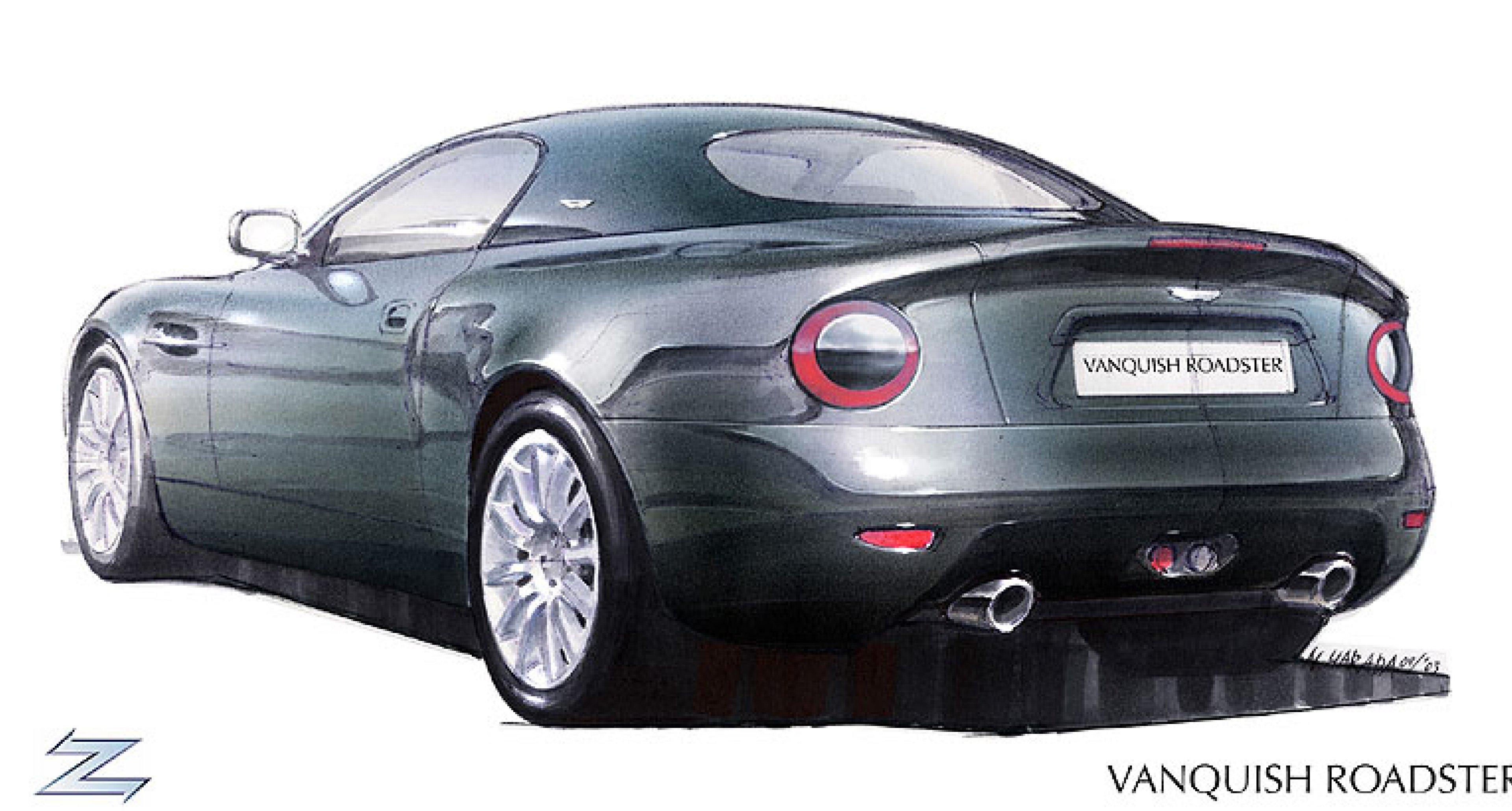 Aston Martin Vanquish Roadster auf dem Genfer Automobilsalon 2004