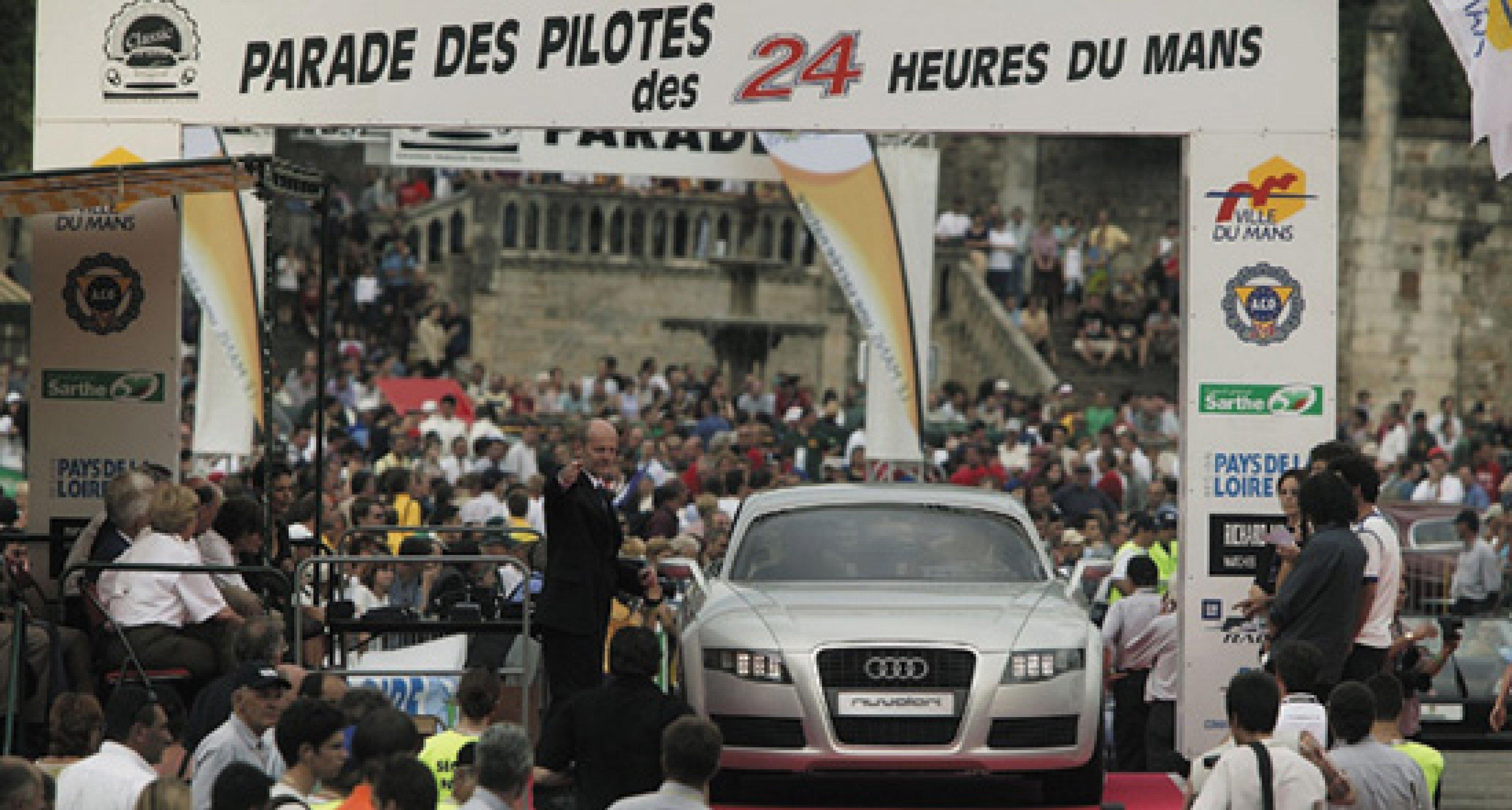 Audi Nuvolari quattro on the legendary Le Mans circuit in 2003