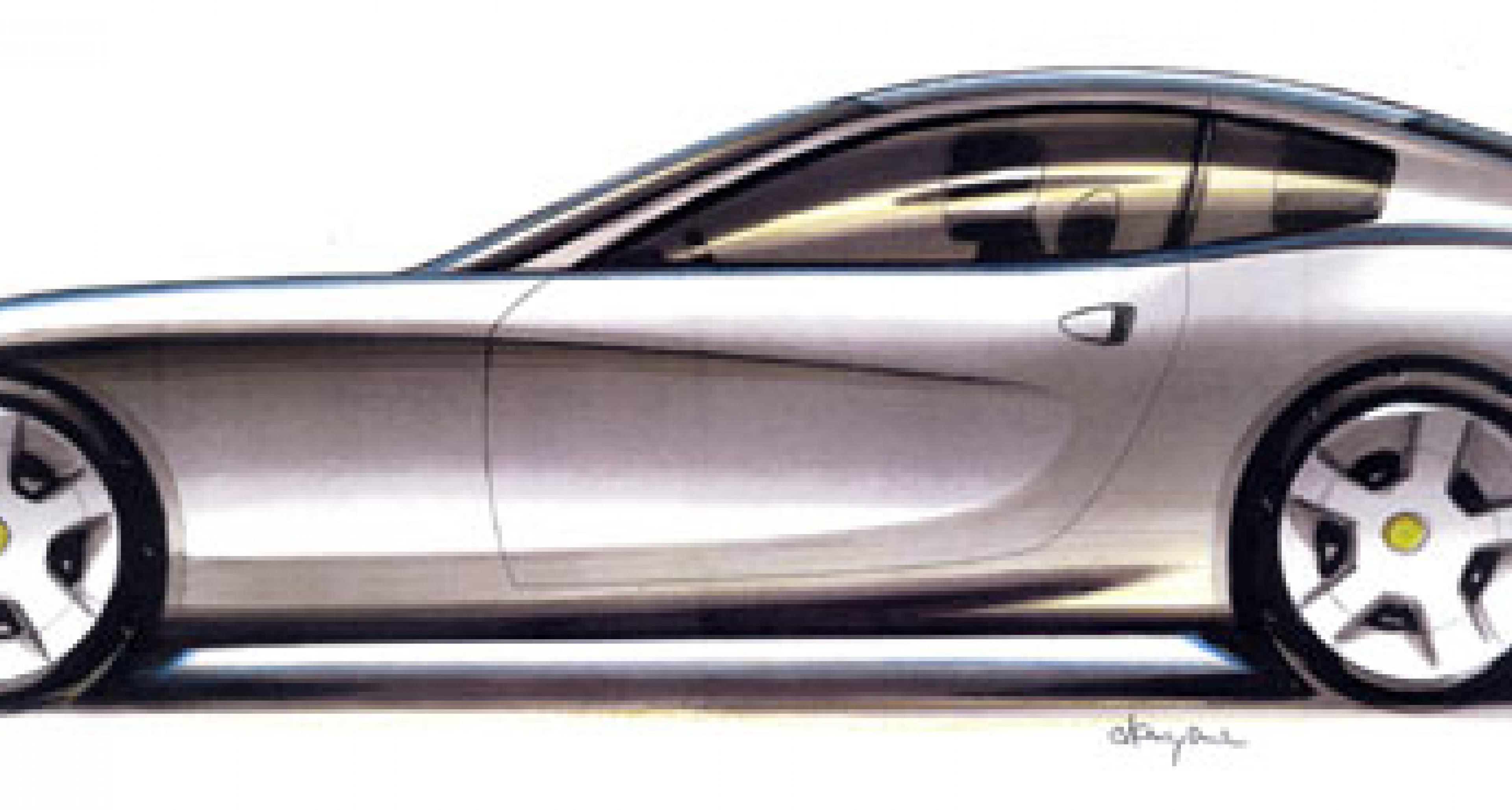Ferrari show early design sketches of new  for 2004 2 + 2 GT car