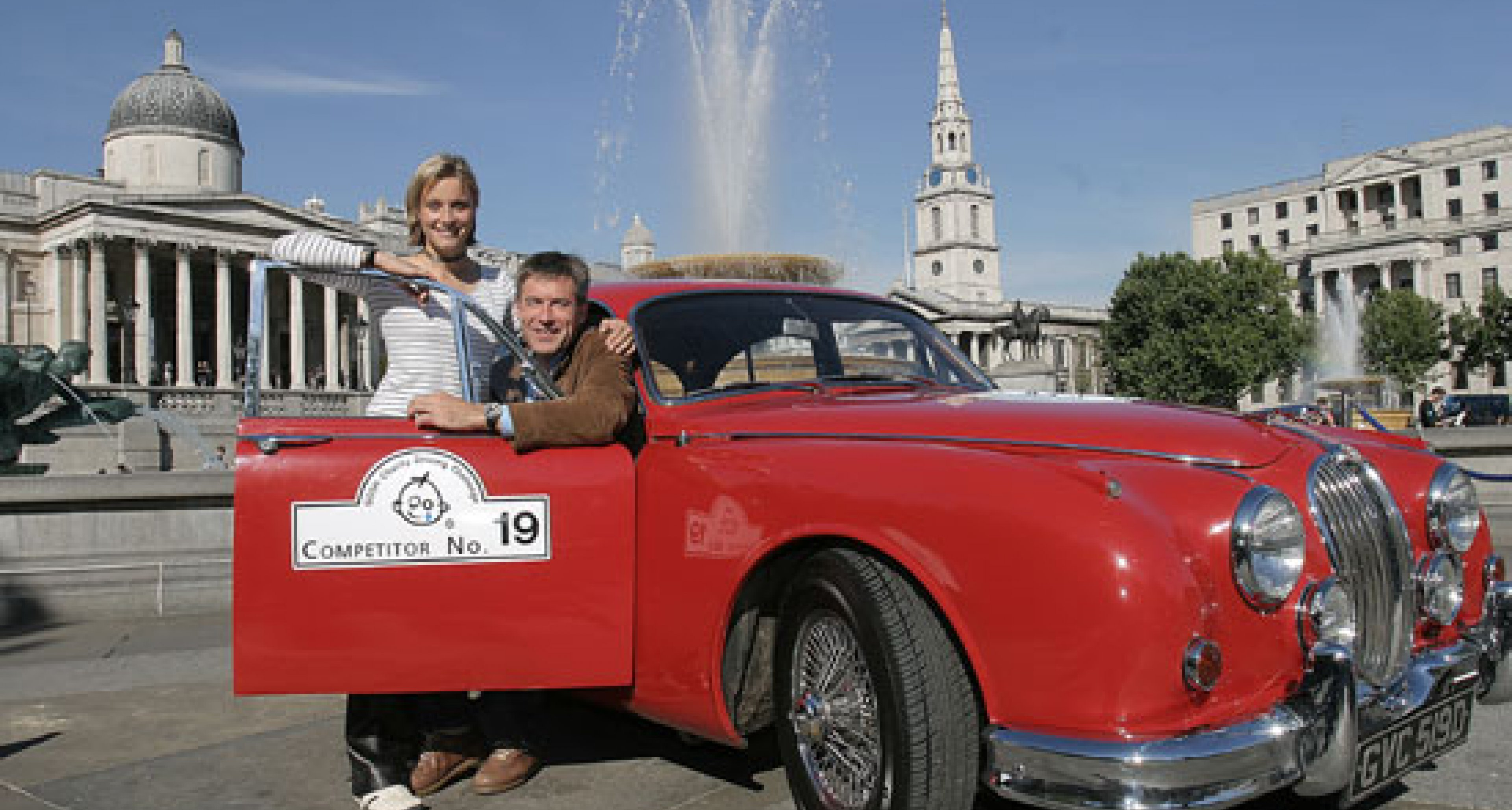 The GOSH Charity Driving Challenge launches in London's Trafalgar Square