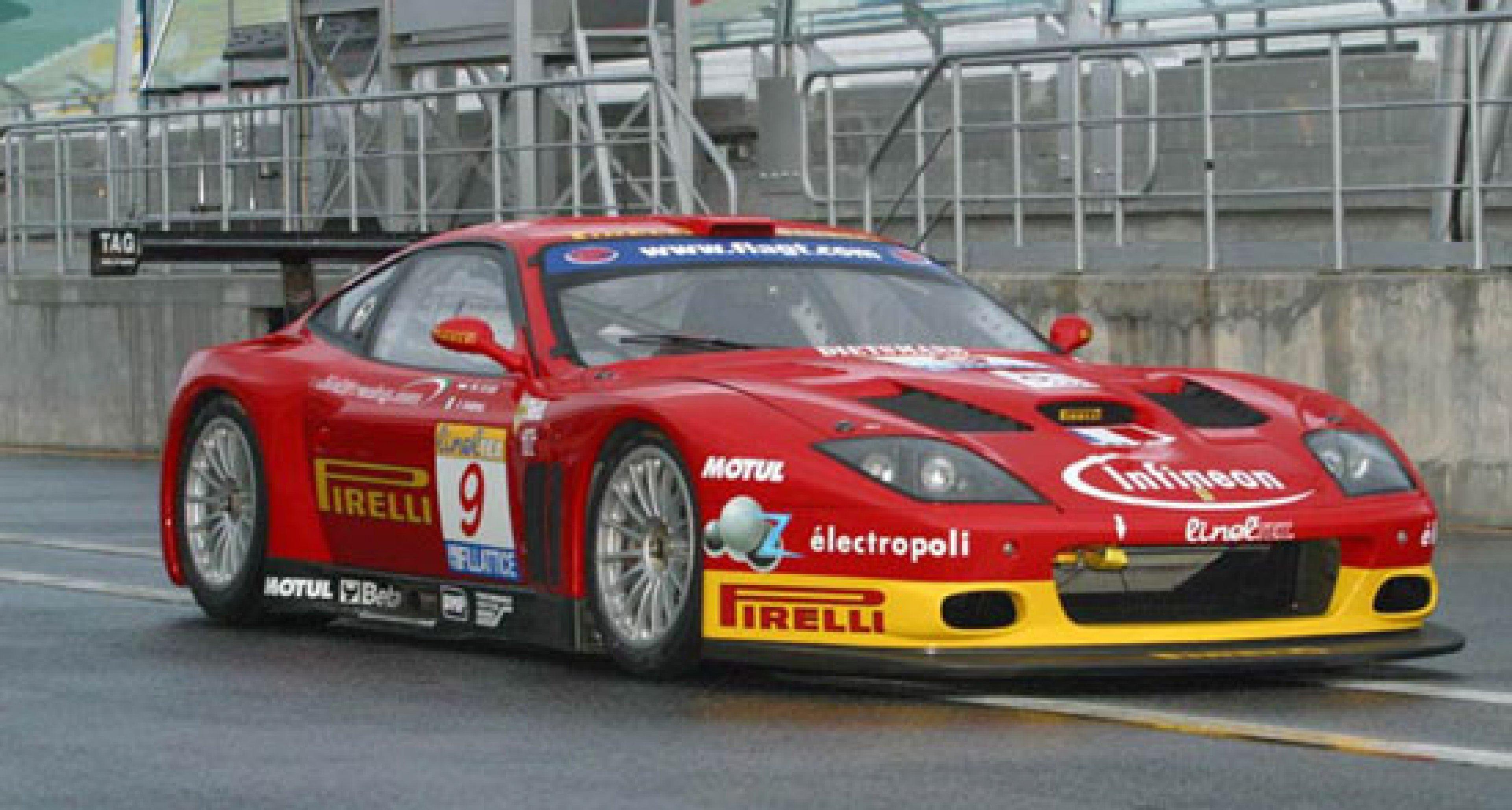 Der neue Ferrari 575GTC gewinnt bei seinem Debüt in Estoril