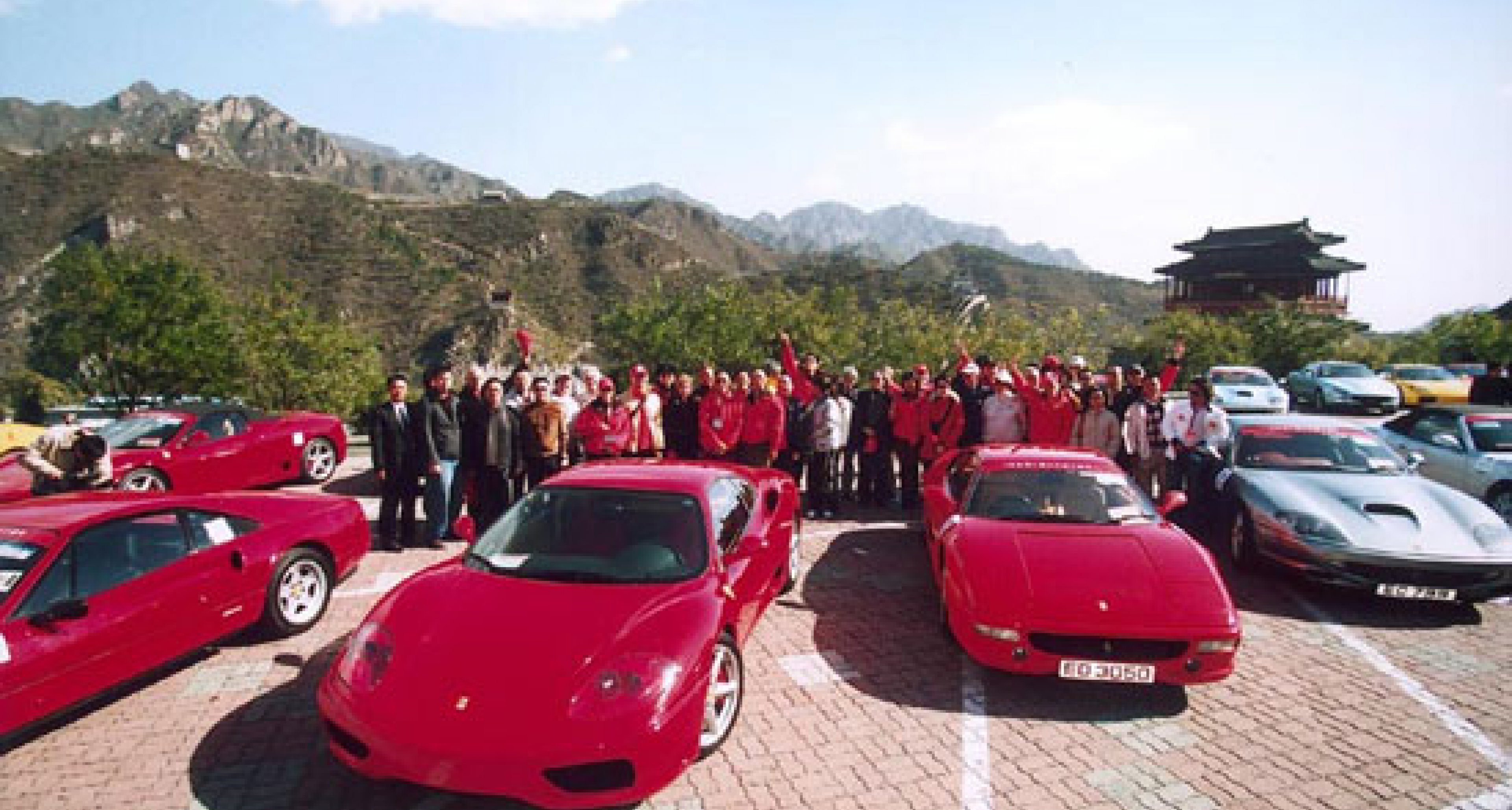 Grand parade in Tian-an-Men square to celebrate 10 years of Ferrari in China