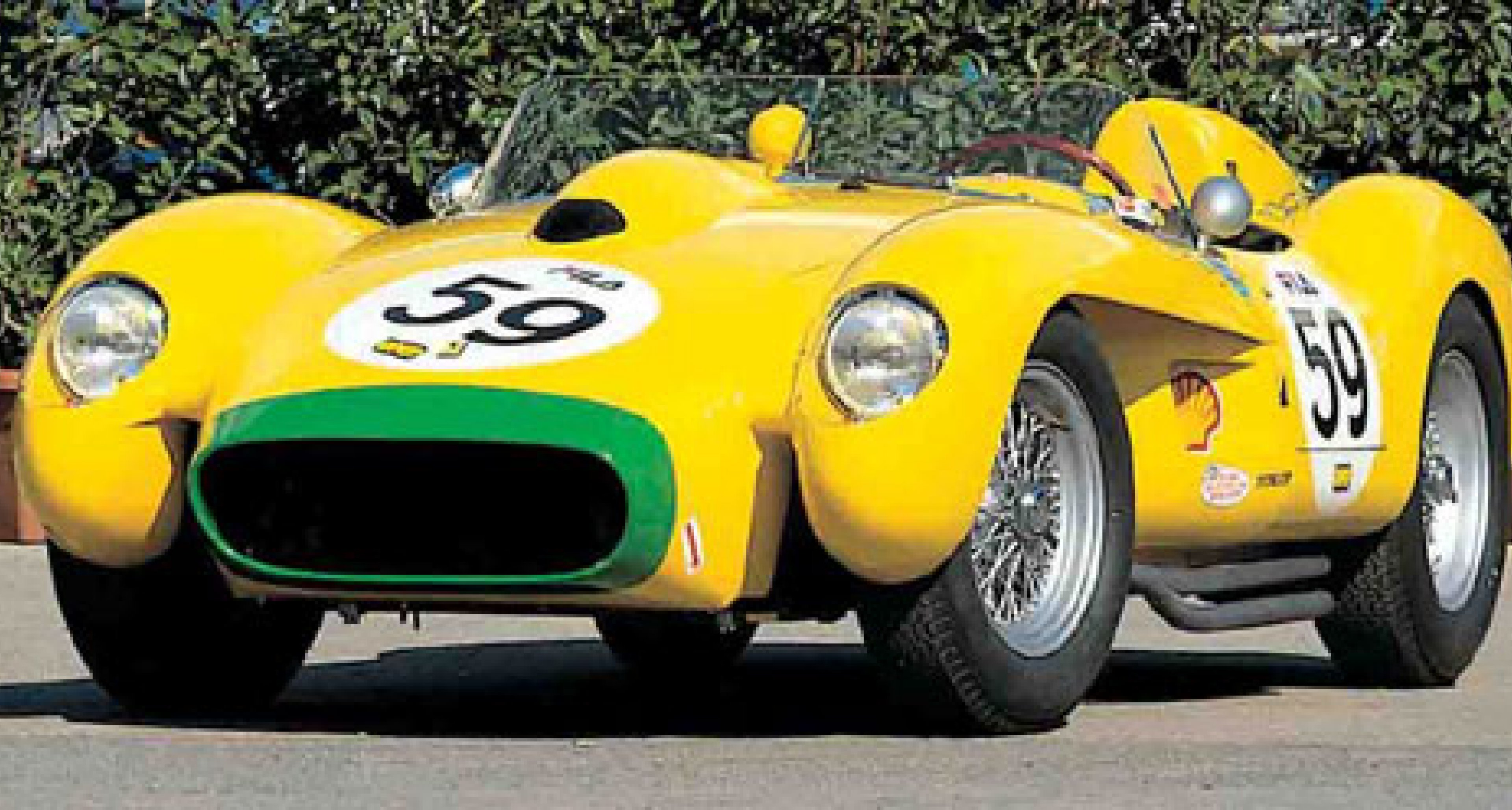 Two Yellow Ferraris