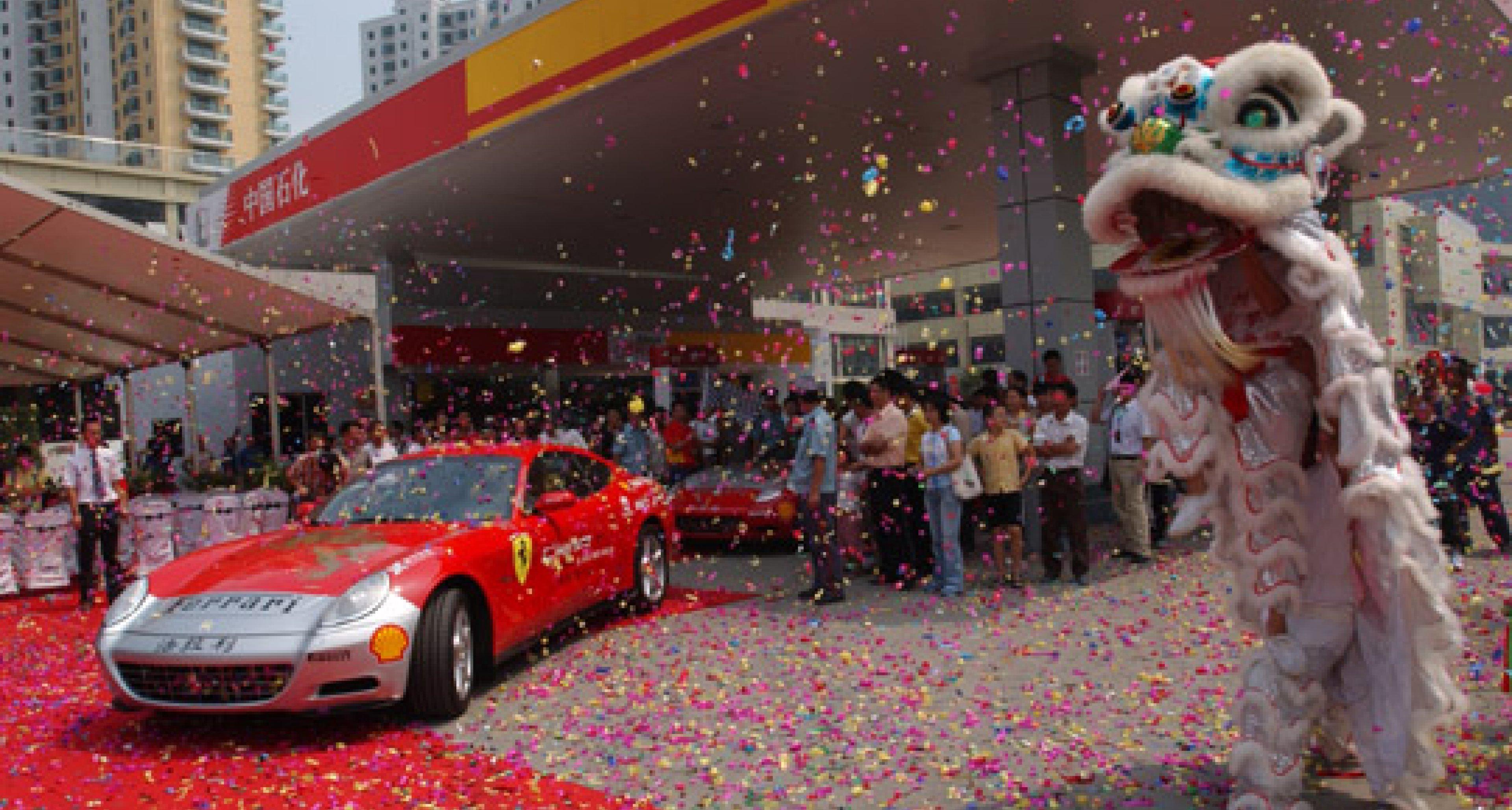 Two Ferrari 612 Scagliettis start China Tour in Shanghai