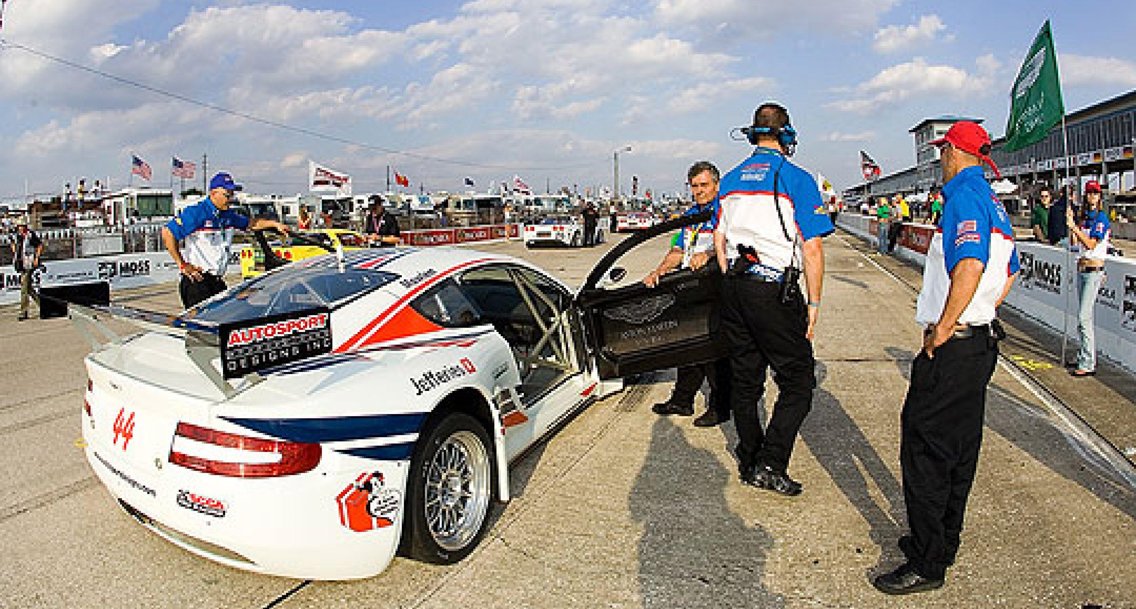 Autosport Designs Aston Martin DBRS9s at Sebring 2006
