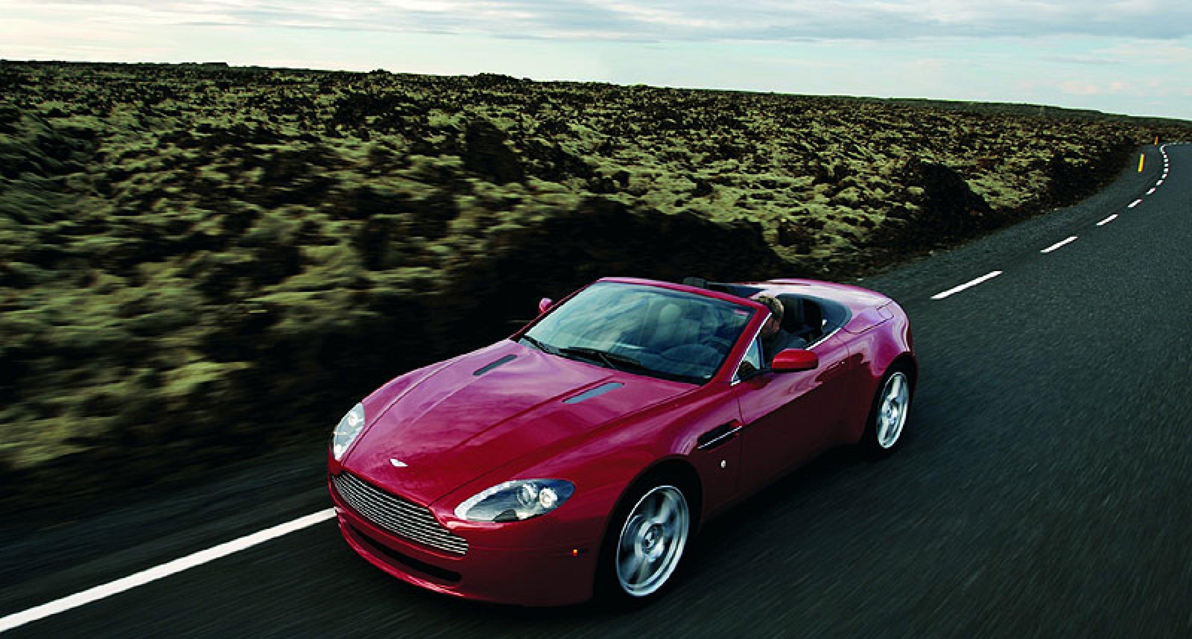 LA Launch of  Aston Martin V8 Vantage Roadster