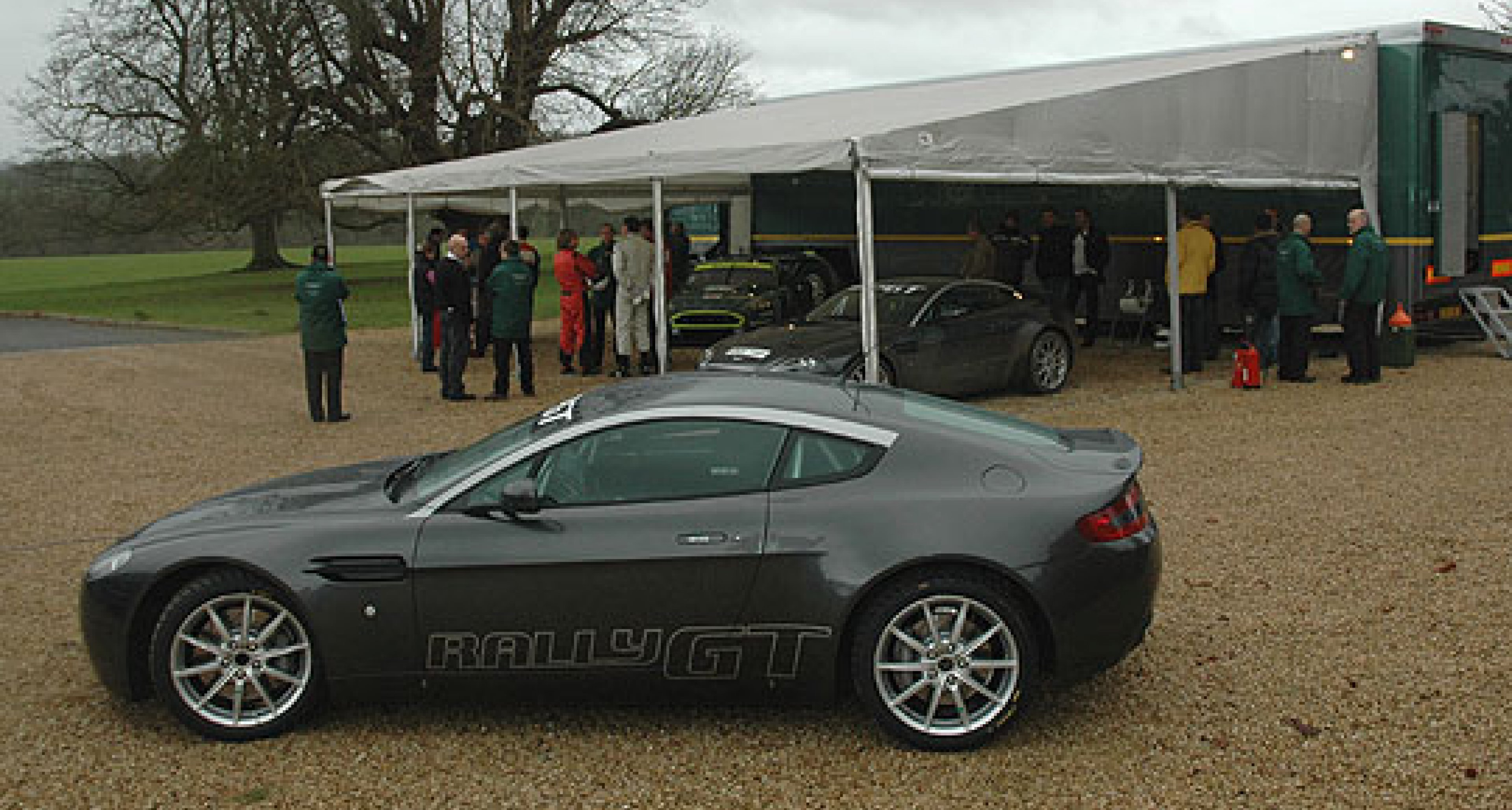 The Aston Martin  Rally GT  put through its paces
