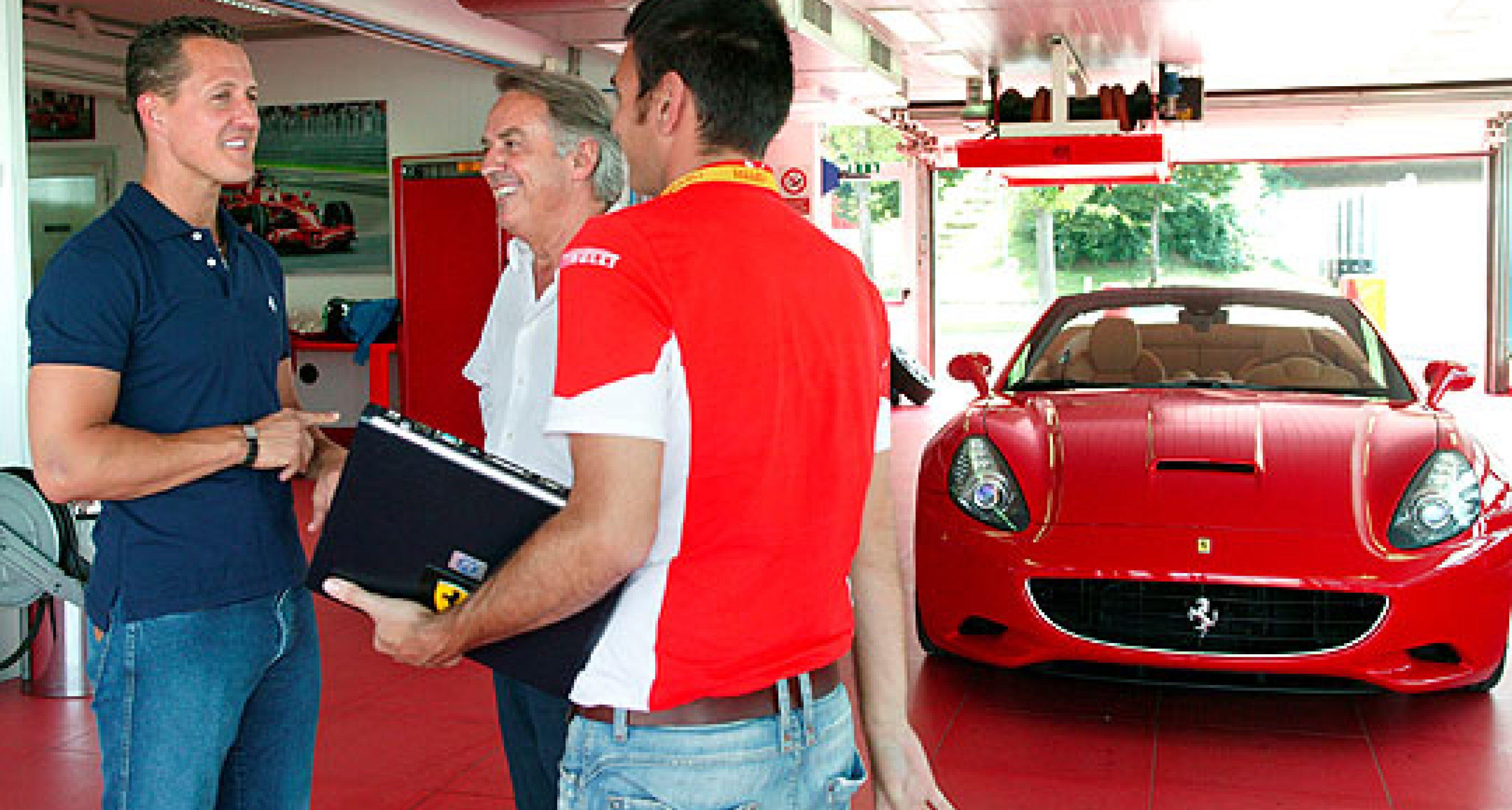 Schumacher Tests New Ferrari California