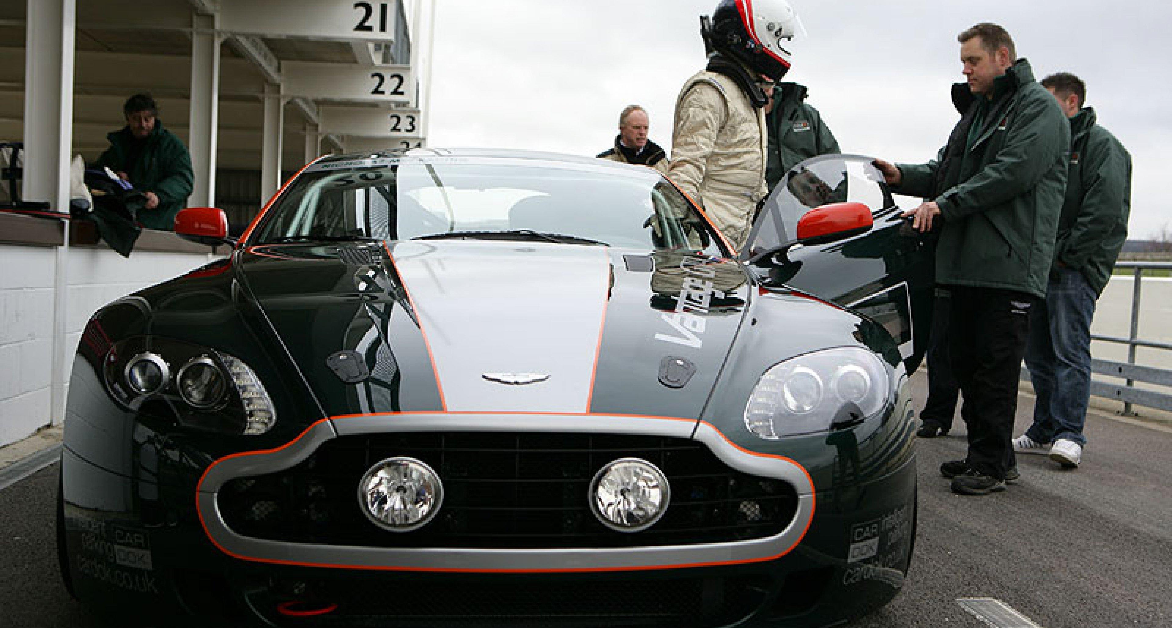 Goodwood Green: Aston Martin DB4GT and Vantage GT4