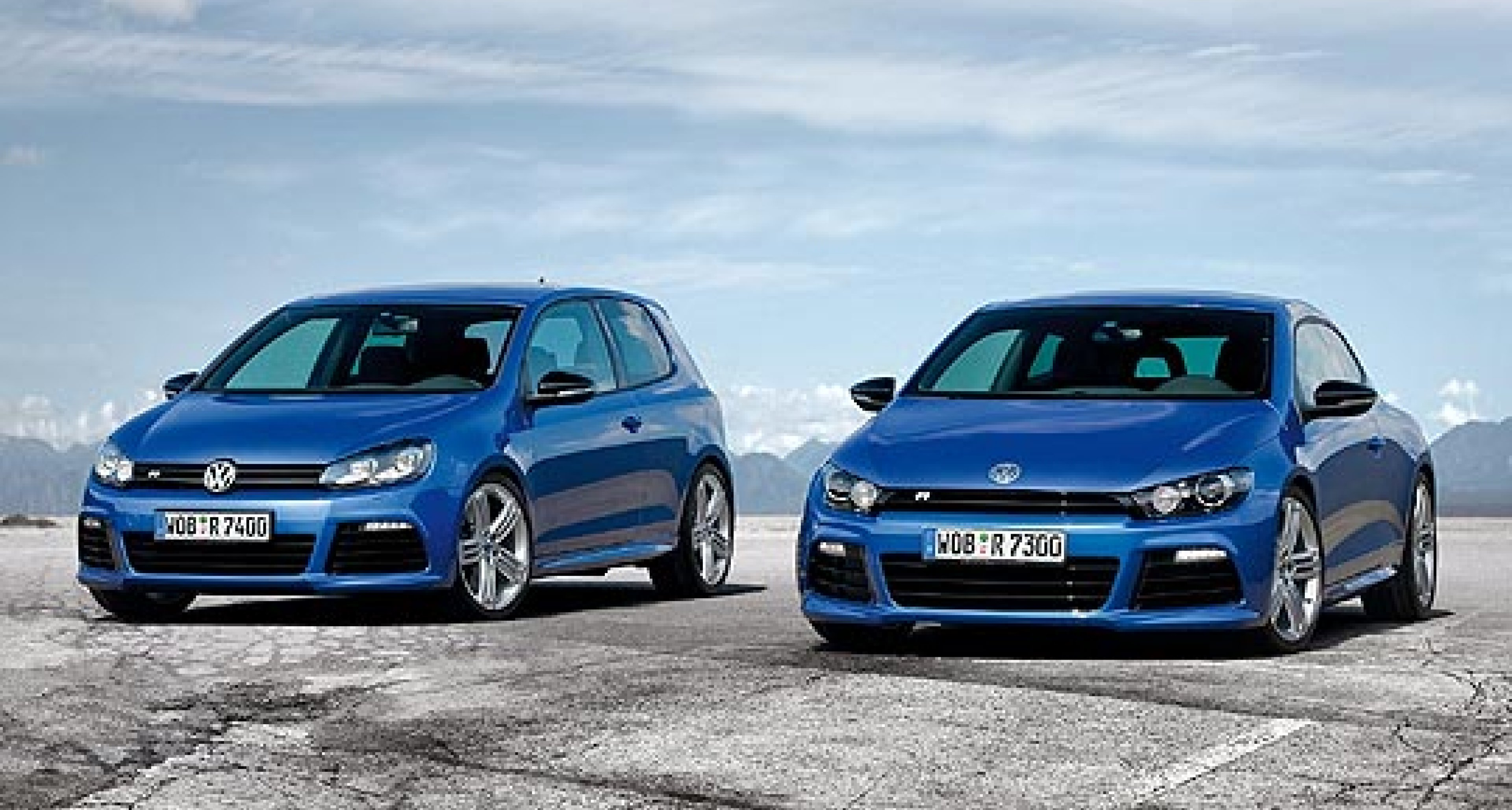 Volkswagen Scirocco R and Golf R