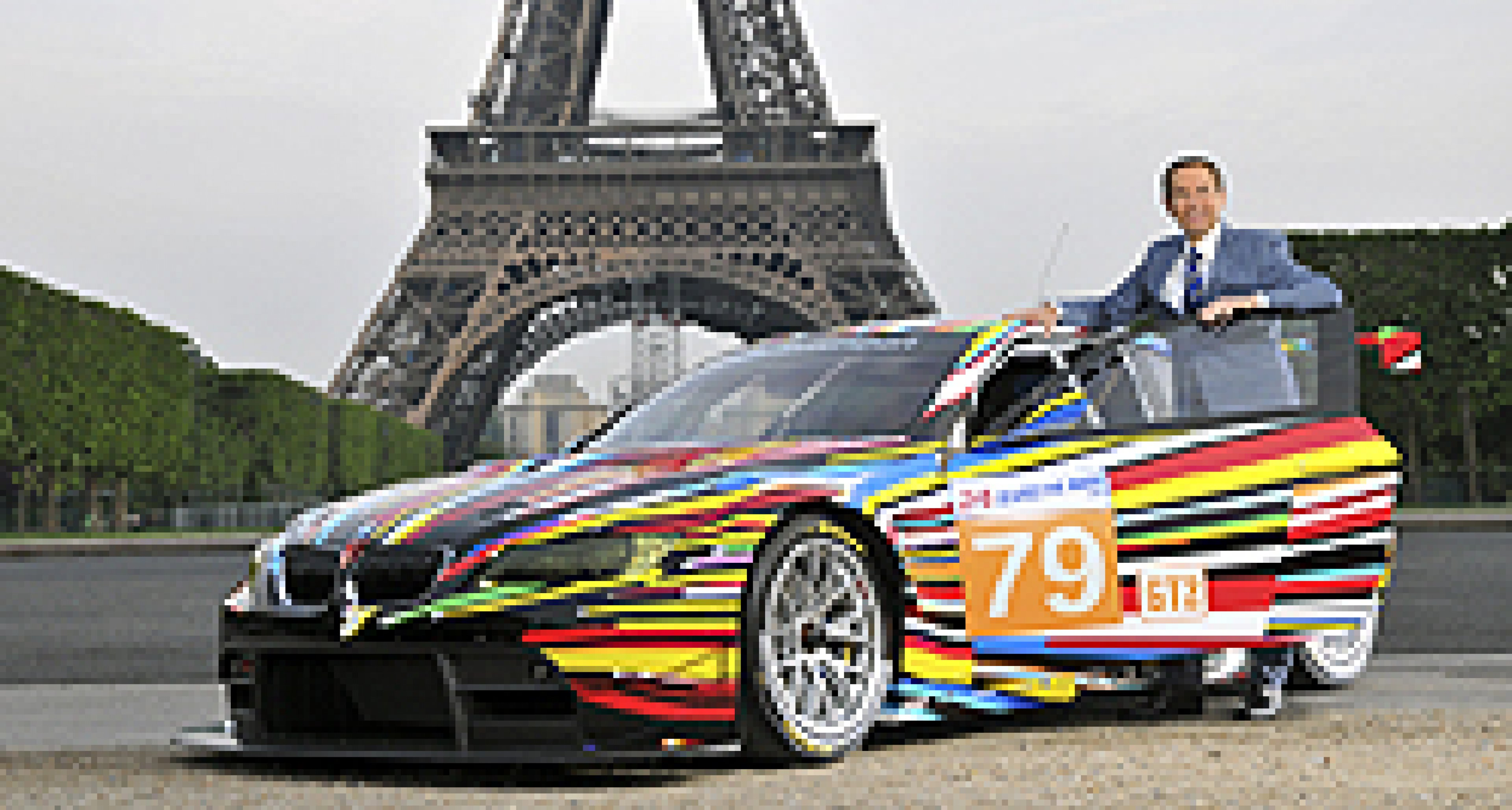 2010 BMW Art Car Exhibited at the Pompidou Centre