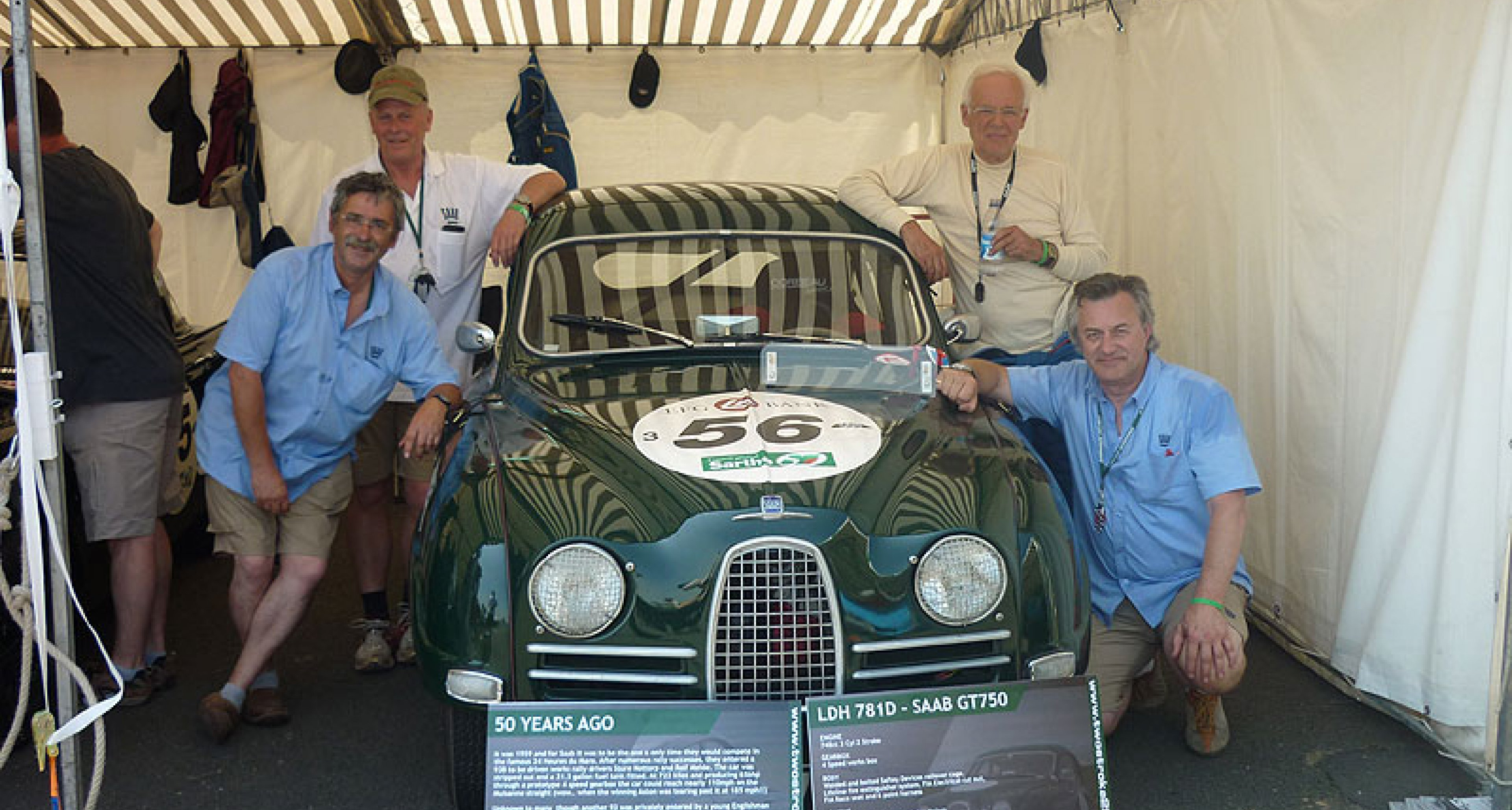 Saab at the 2010 Le Mans Classic