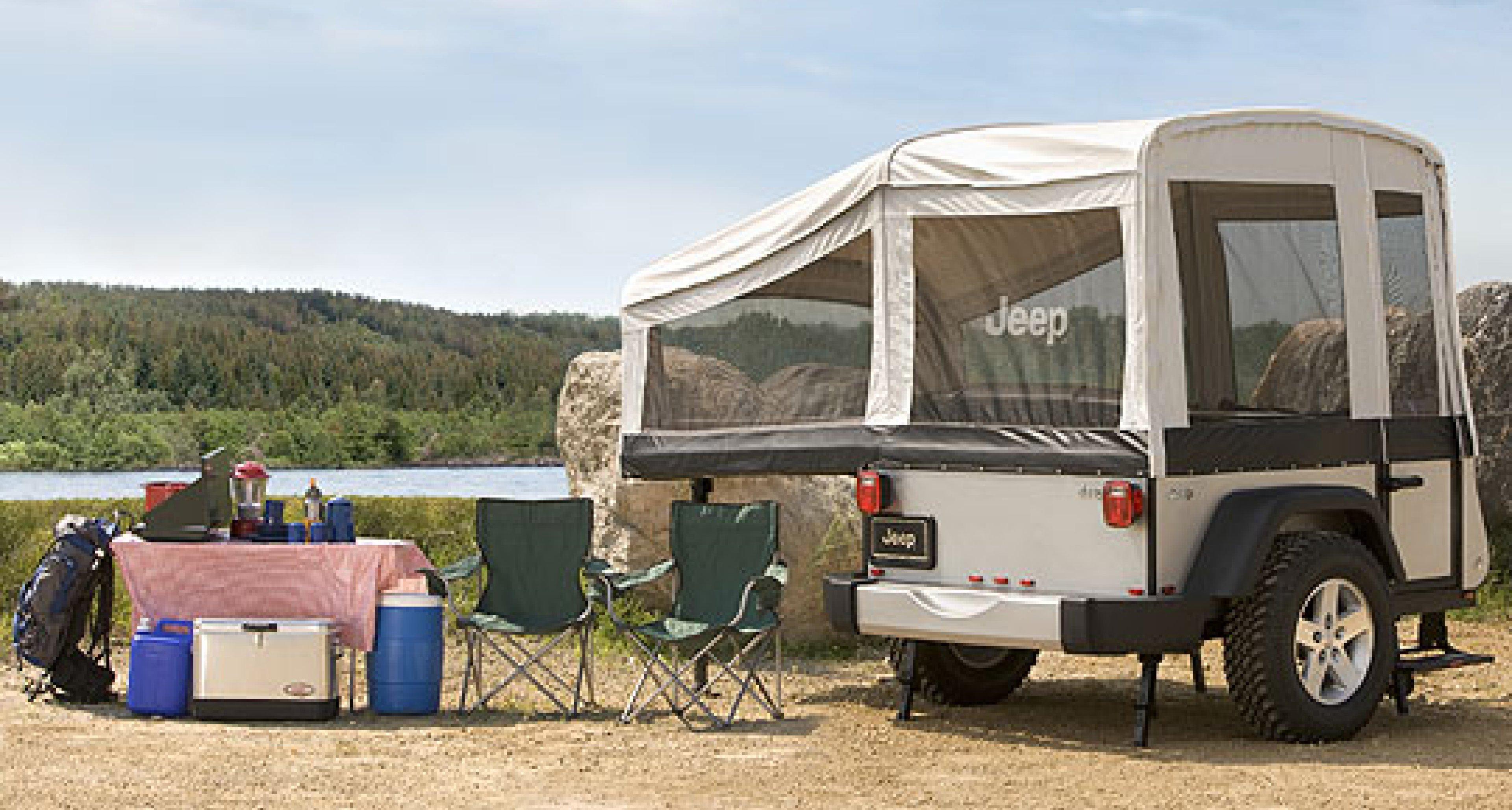 Jeep Camper-Trailer: Wild Campen