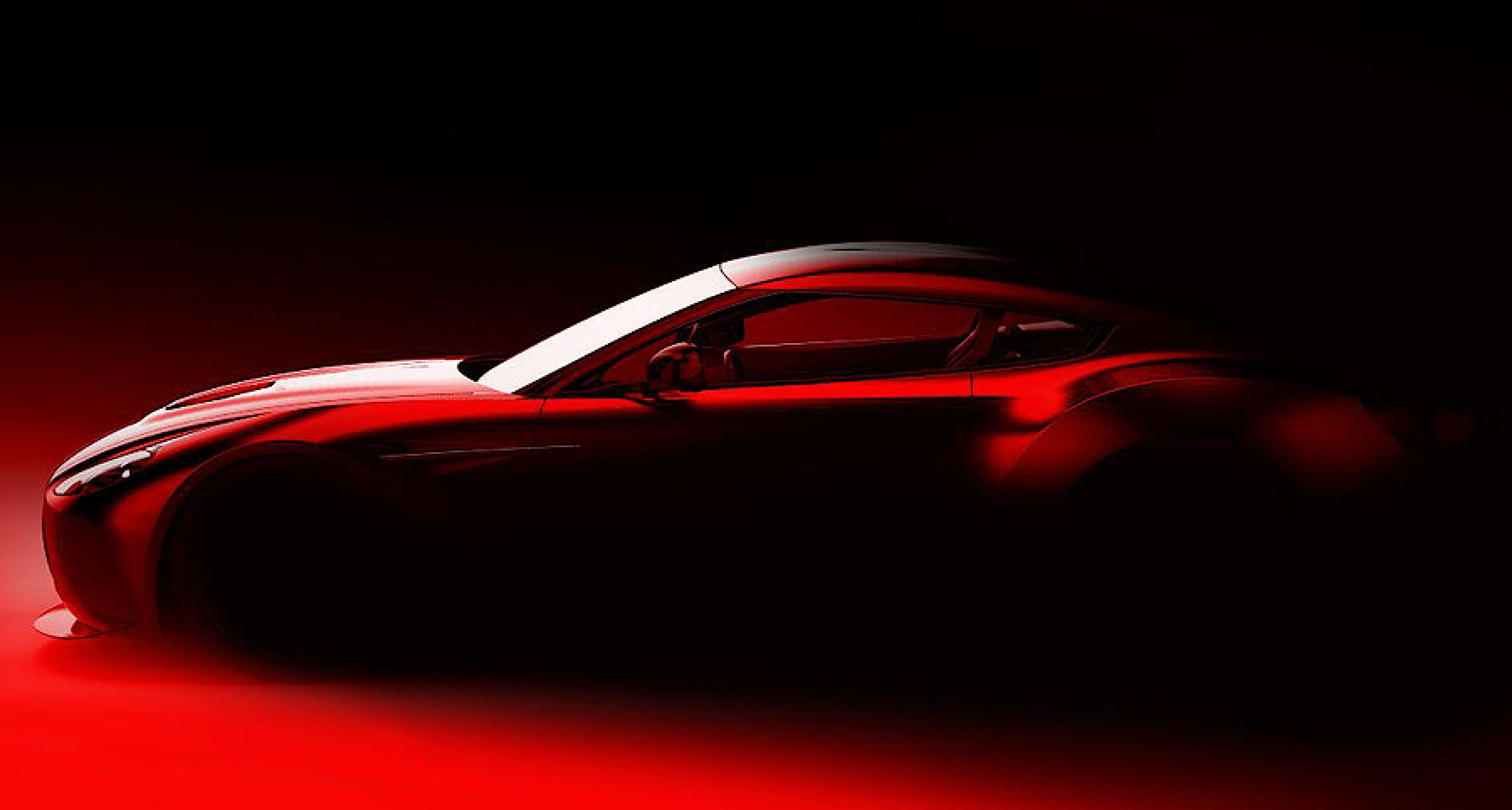The return of the 'Aston Zagato'... which will race at the 'Ring this May