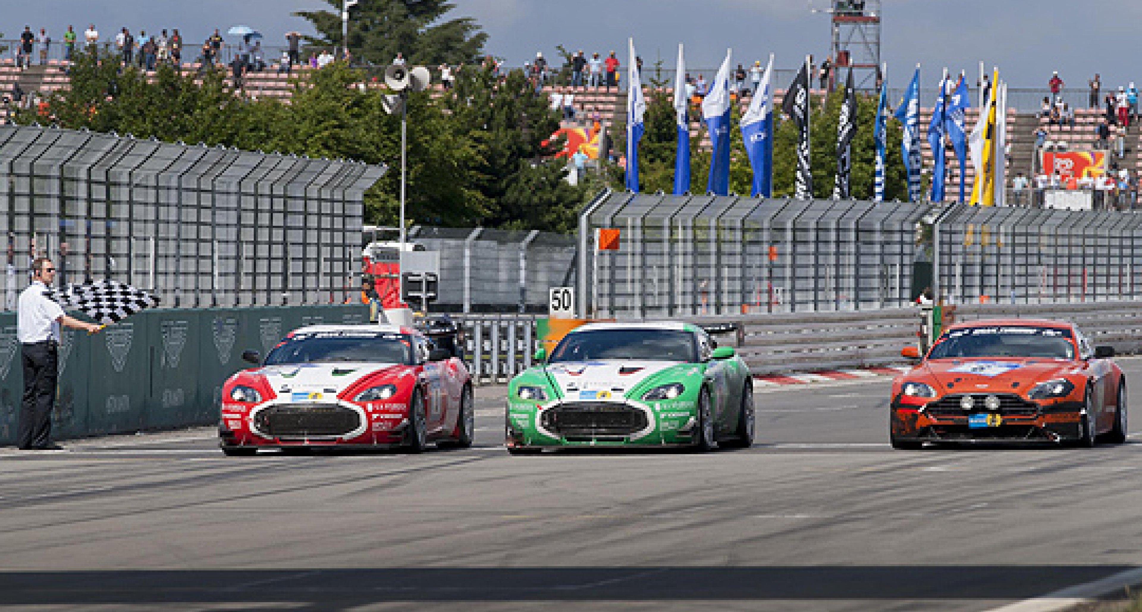 Aston Martin V12 Zagatos at the 2011 Nürburgring 24 Hours