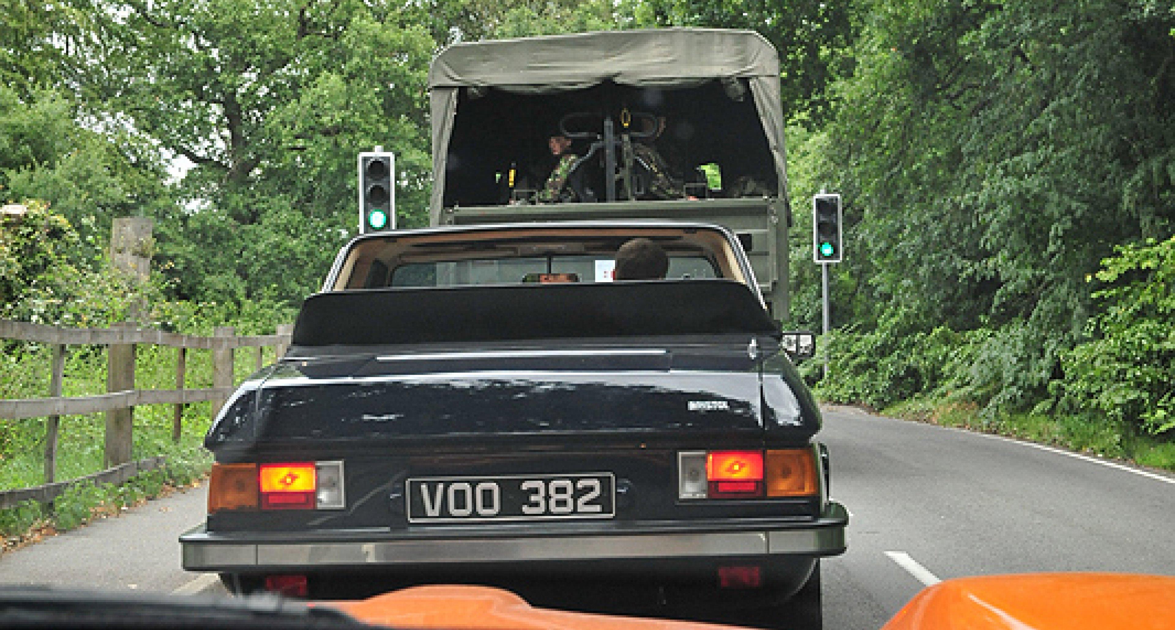 From Kensington to Camberley: Bristol car cavalcade stops London traffic