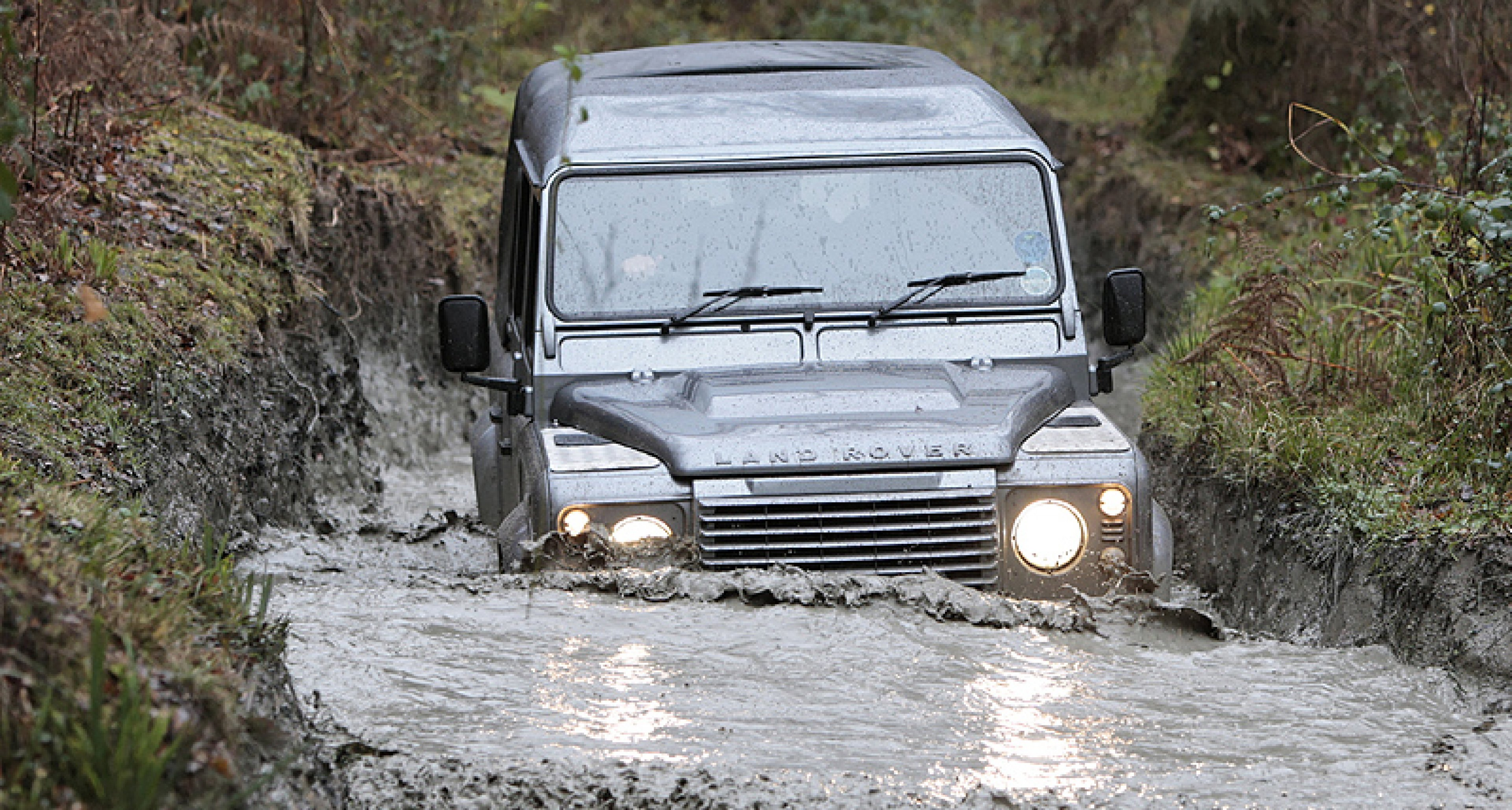 Land Rovers old and new: 50 years of off-road testing at Eastnor Castle