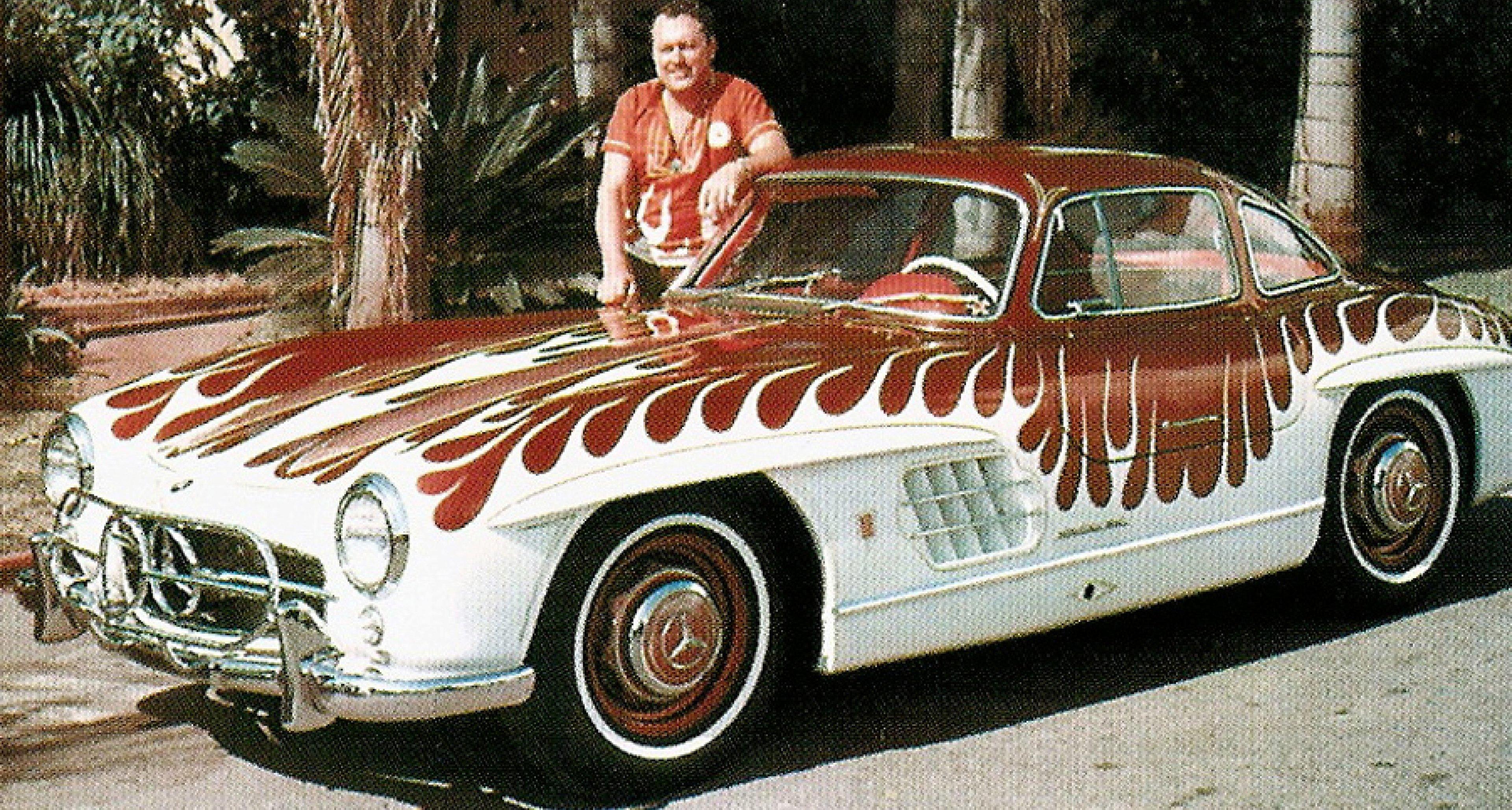 Von Dutch and the 'flamed' Mercedes 300 SL