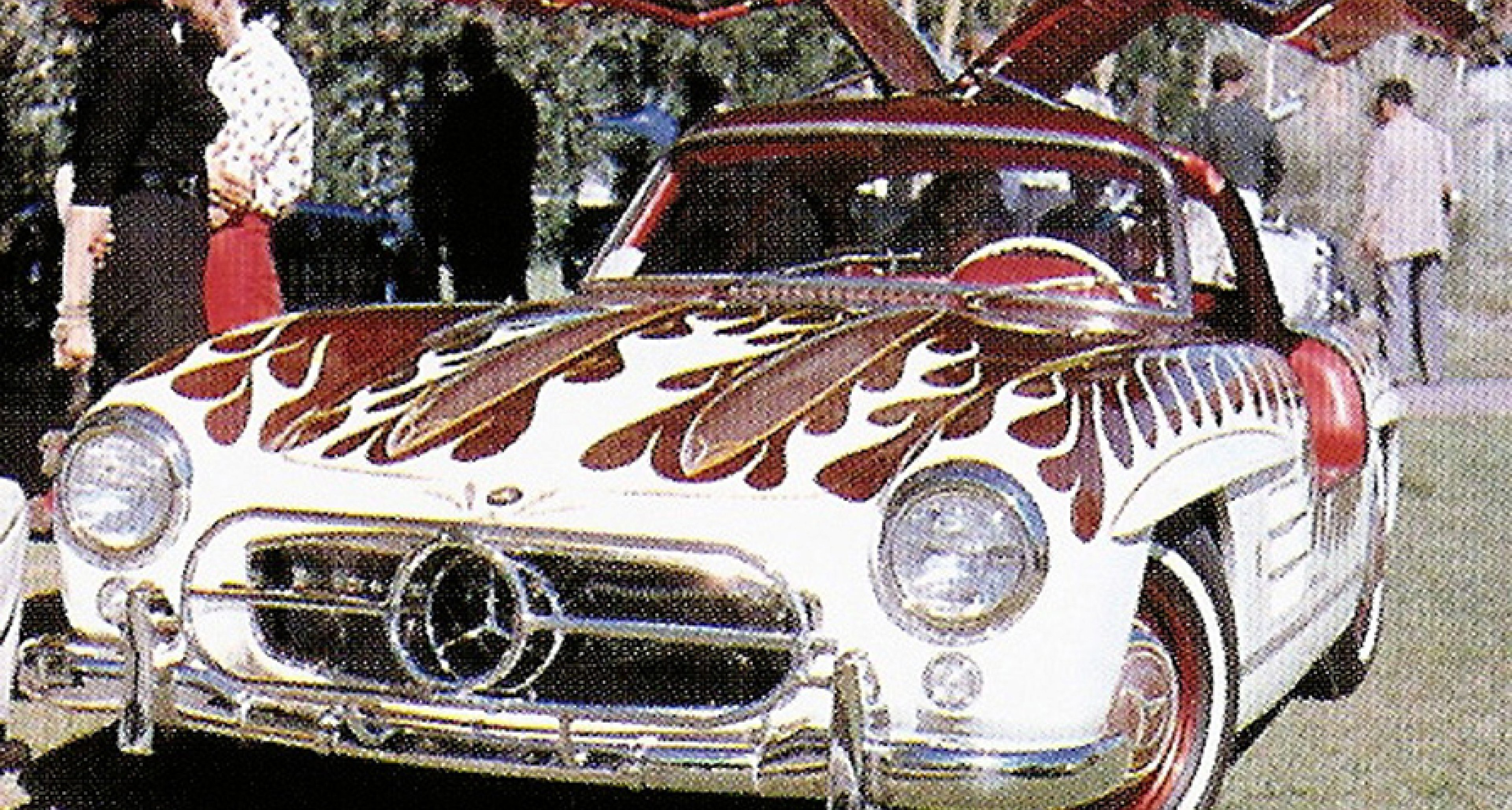 Von Dutch and the 'flamed' Mercedes 300 SL